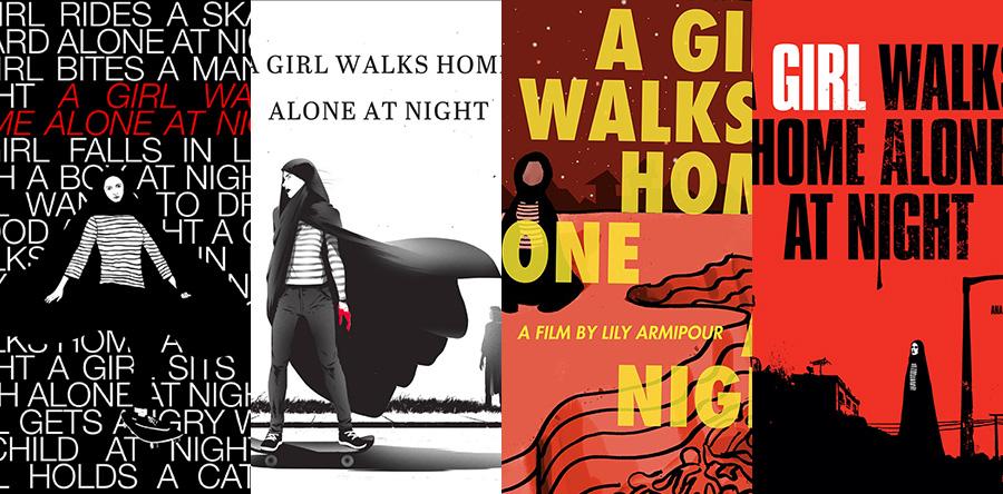 Una chica vuelve sola a casa de noche
