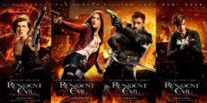 RESIDENT EVIL: EL CAPÍTULO FINAL posters de los personajes