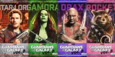 GUARDIANES DE LA GALAXIA 2 posters de los personajes