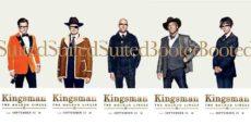 KINGSMAN: EL CÍRCULO DE ORO posters de los personajes: ¿Entrajados o con botas?