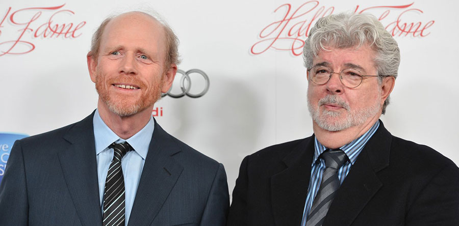 RON HOWARD GEORGE LUCAS